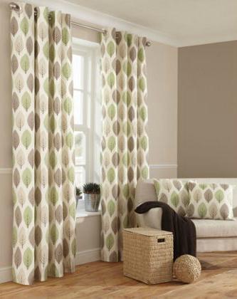 Natural green leaf curtains