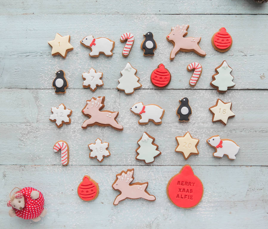 Alternative biscuit advent calendar by Honeywell Bakes