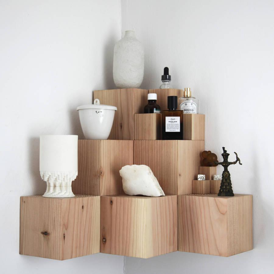 Quirky wooden multi tier shelf unit  from I Love Retro