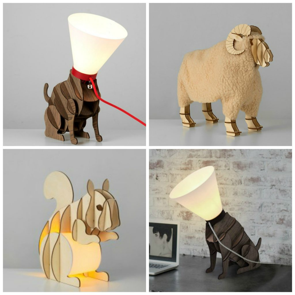 All these animal lamps are such fun! Which to choose though, cat, sheep, squirrel or dog?