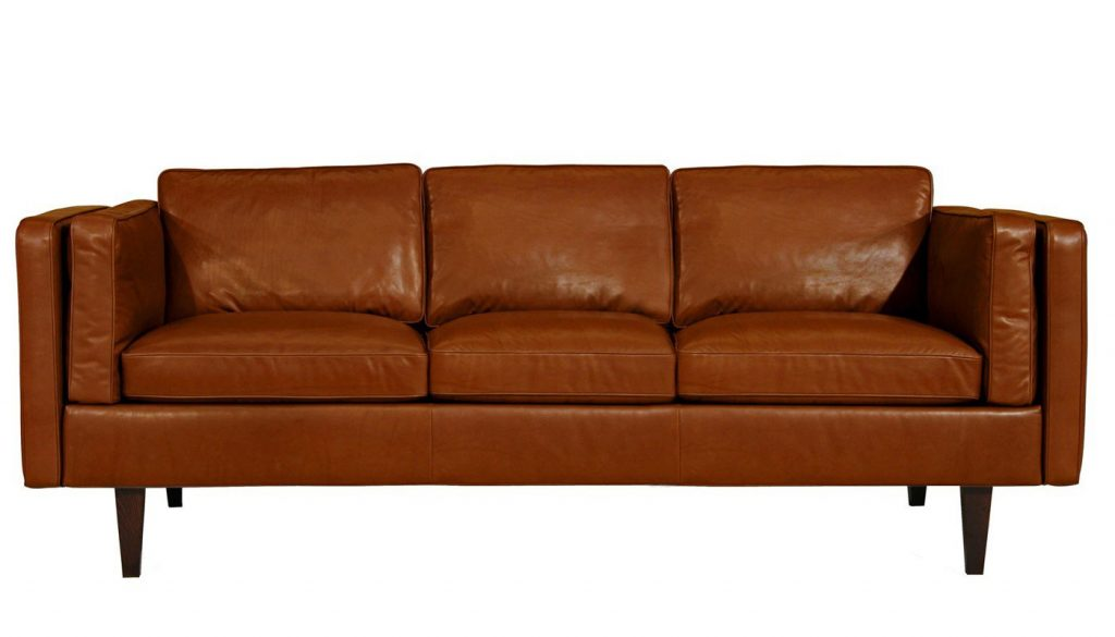 Gorgeous large leather four seater Chill sofa - a modern Scandi style design that's made to last