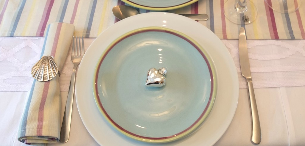Amalfi design tableware from Duckydora, styled by Fresh Design Blog