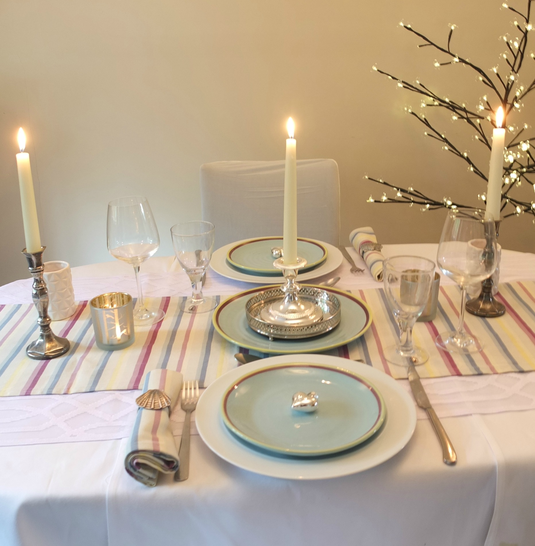How to set a romantic dinner table for two -  Romantic Dinner For Two Table Setting Using Duckydora Amalfi Range Romantic Dinner Table How