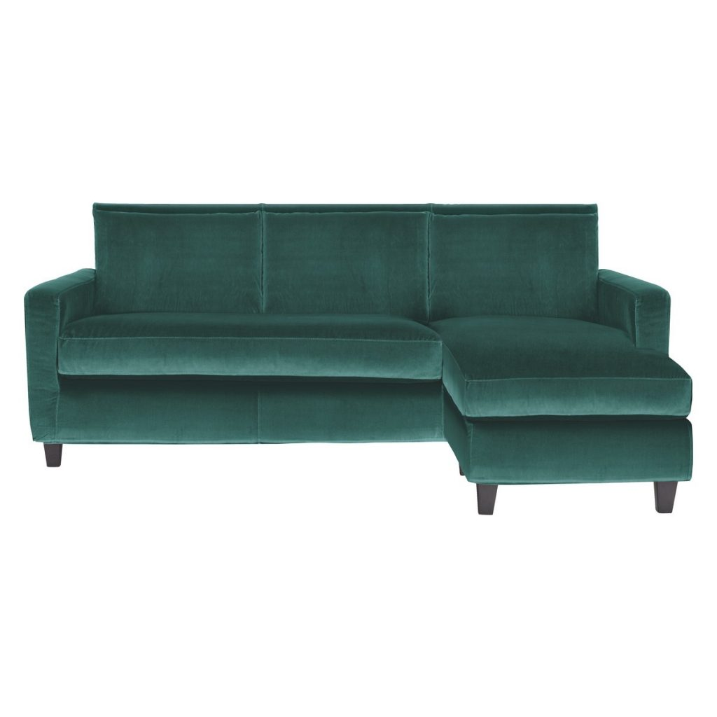 Wow, this looks like a gorgeous sofa! Love the style and design and the luxurious velvet finish.