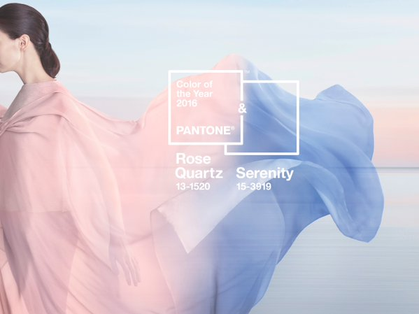 Pantone colour of the year 2016: Rose quartz pink and serenity blue
