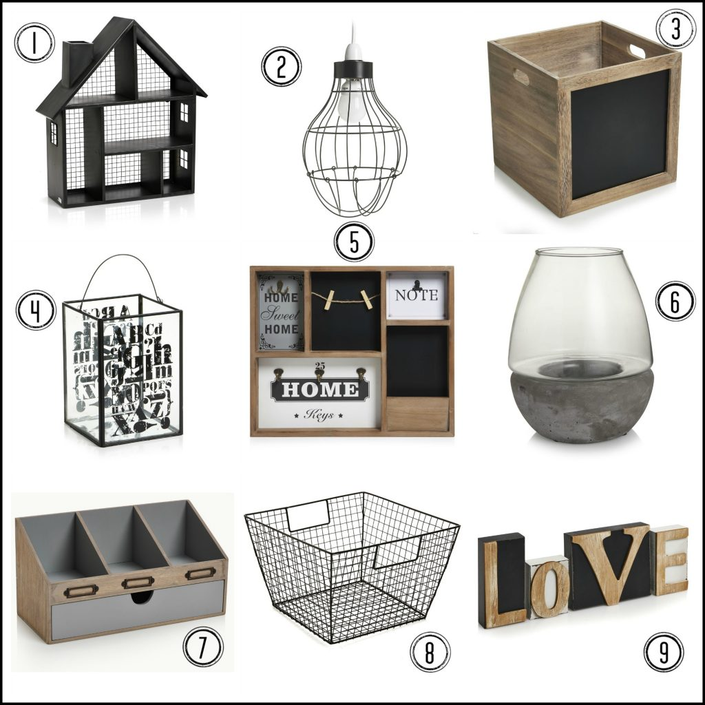Fab products to create an industrial utility style in your home. Great for home offices.