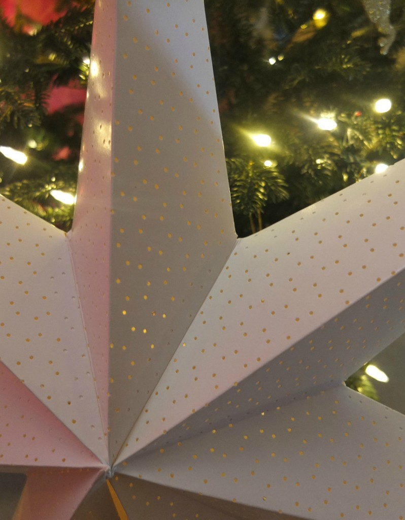Large white Scandinavian Christmas star - traditionally hung in a window