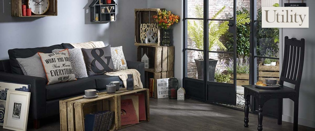 Utility theme home accessories from Wilko, ideal for a contemporary home or industrial look