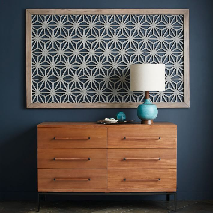 Wouldn't this look fab on your wall? Framed handmade paper wall art from West Elm