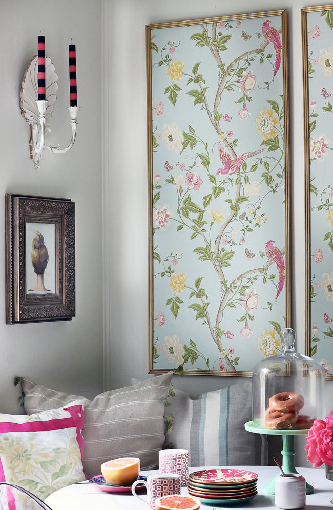 Fresh design ideas creative ways to use wallpaper in your home fresh design blog - Creative decoration ideas for home without ripping you off ...