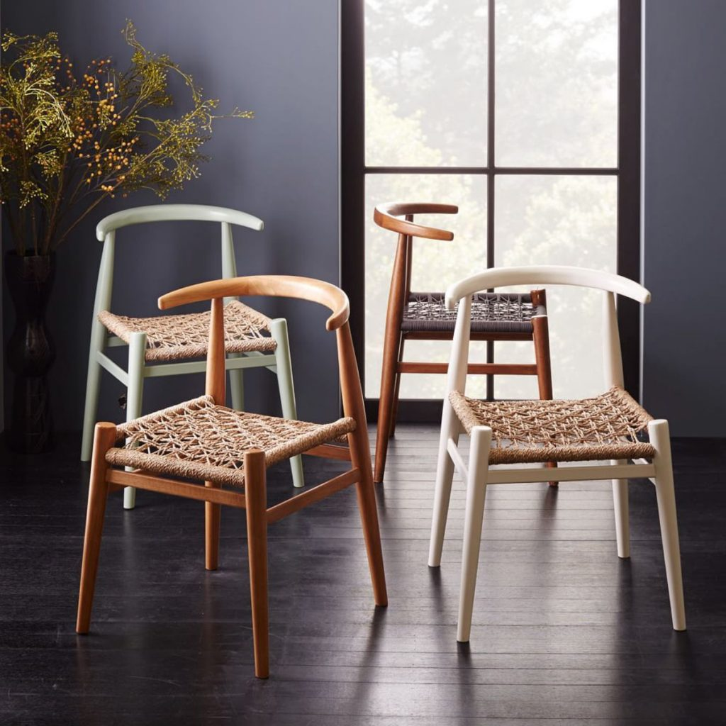 Designer chair by John Vogel in a choice of three soft and appealing colours