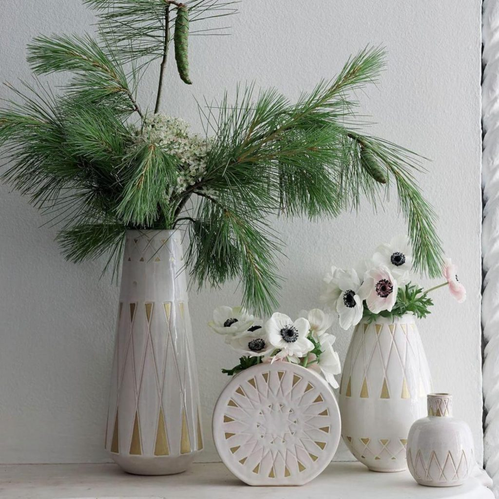 Elegant and stylish mid-century style vases, great for floral displays