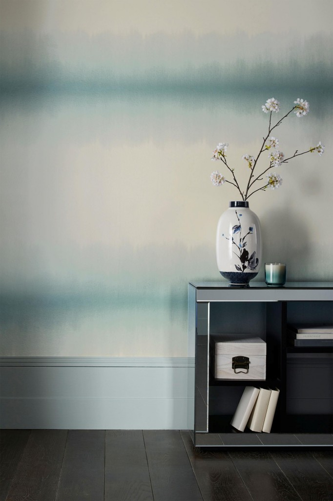 Bring an ombre effect to your walls, with this affordable wallpaper from Next. It's a very soothing and calming colour scheme.