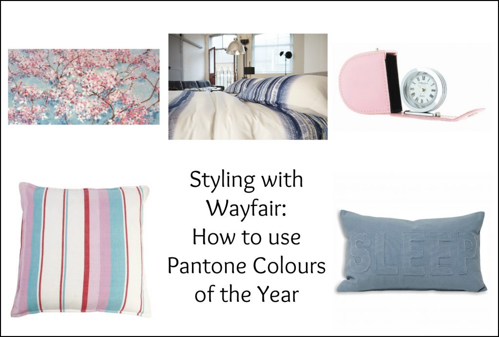 Wayfair styling challenge: Ideas for using Pantone Colours of the Year 2016 in your home