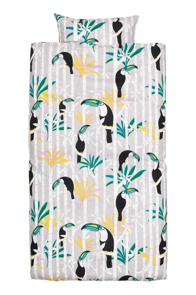 Fun toucan bird print duvet cover from H&M