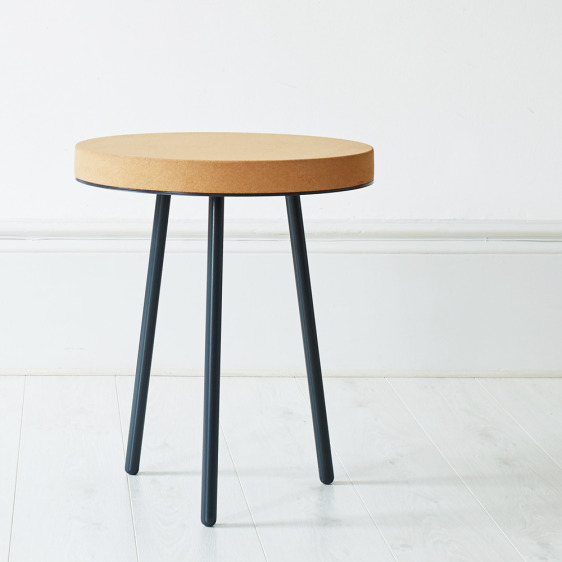 Contemporary cork topped Atlas table, designed by Mind the Cork