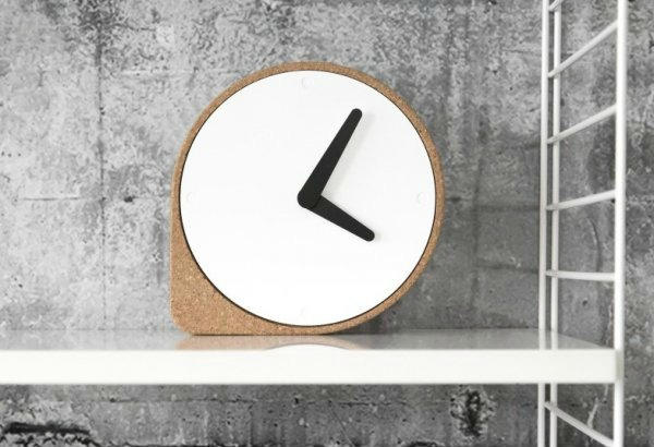 Modern cork clock by Puik Art, perfect for a contemporary home