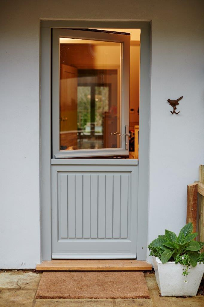 want to swap a standard back door for a solid wood stable style door