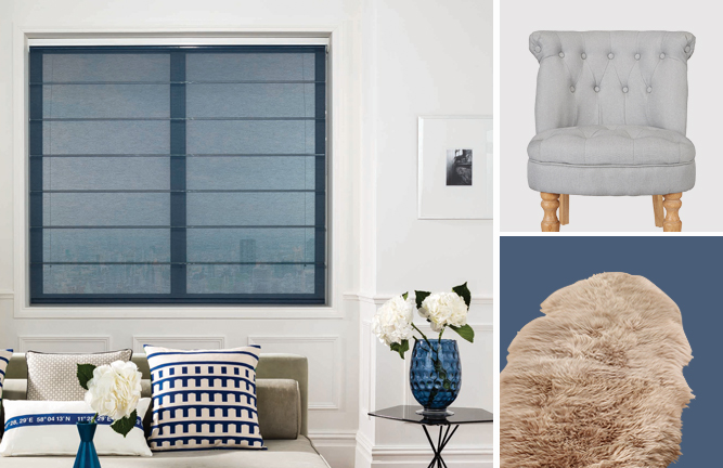 Love these shades of blue and grey for decorating a home - they're calming and restful colours