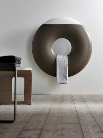Love this donut shaped designer radiator, so unusual.