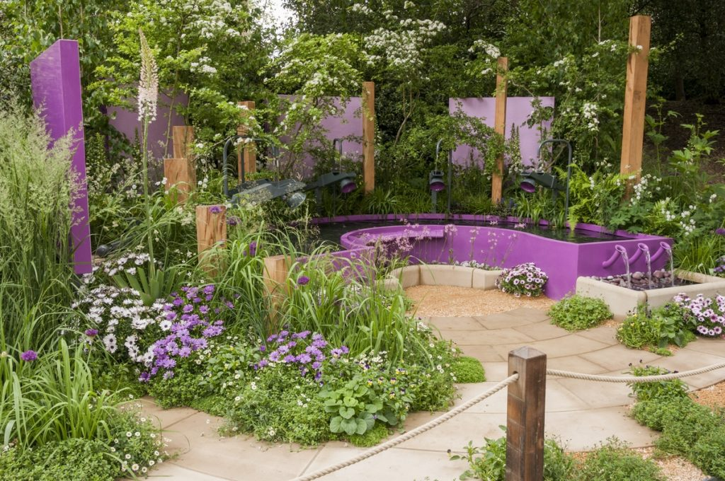Papworth Trust – Together We Can garden. Designed by Peter Eustance for the RHS Chelsea Flower Show 2016