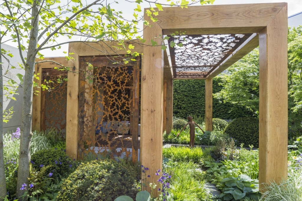 The Morgan Stanley Garden for Great Ormond Street Hospital. Designed by Chris Beardshaw.  RHS Chelsea Flower Show 2016