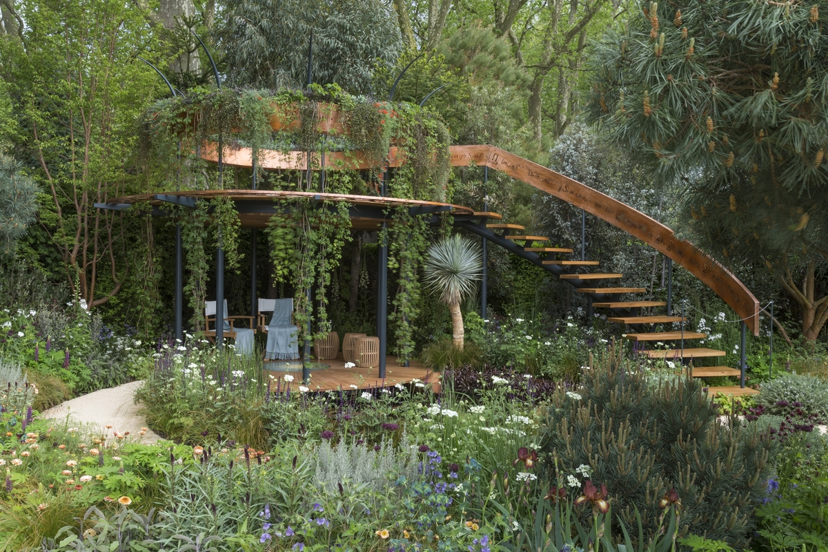 Garden structure design ideas rhs chelsea flower show for Jardin exterieur design