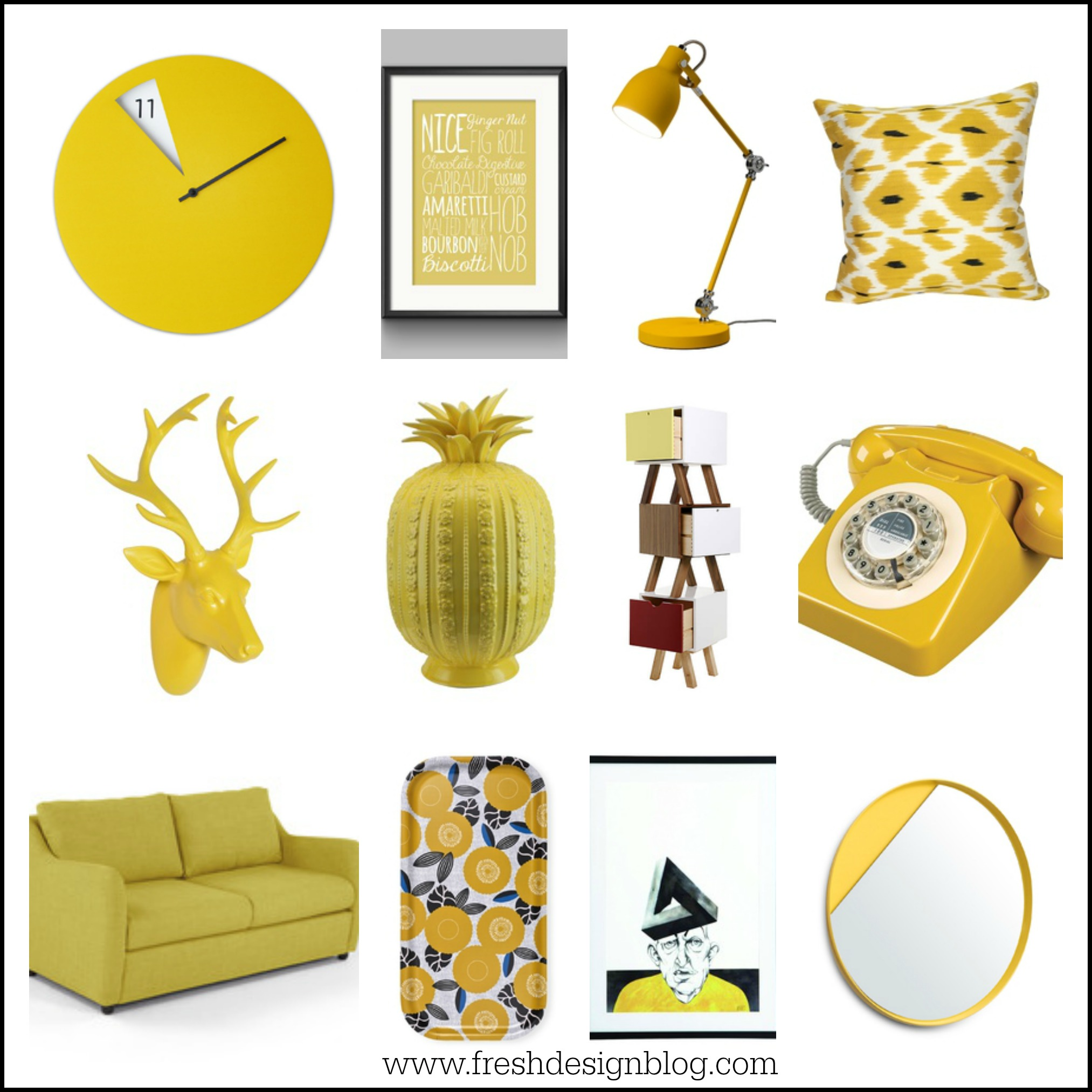 Yellow Home Accessories Home Accent Colours A Pop Of Mellow Yellow  Fresh Design Blog