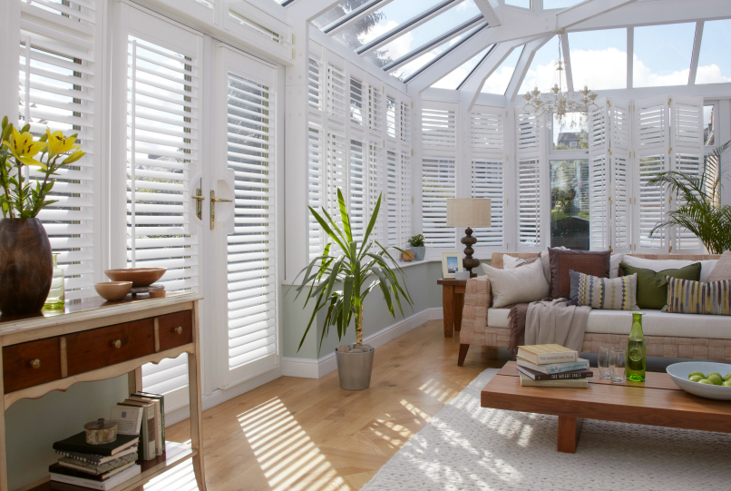 Control the temperature in your conservatory with window shutters