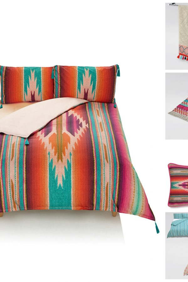 Go global: Colourful Peruvian-style ideas for bedrooms and bathrooms