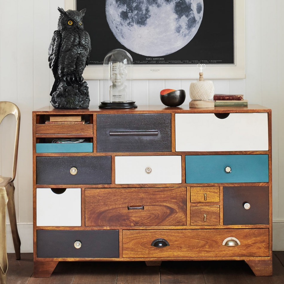 Everything will have its own storage place, with this super sturdy and stylish Freud mango wood chest.