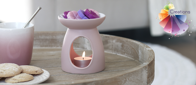 Create your own home fragrance with a Bolsius Aromatic Creations burner and wax melts