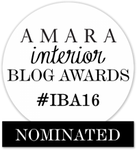 Fresh Design nominated in 2016 Amara Interior Blog Awards