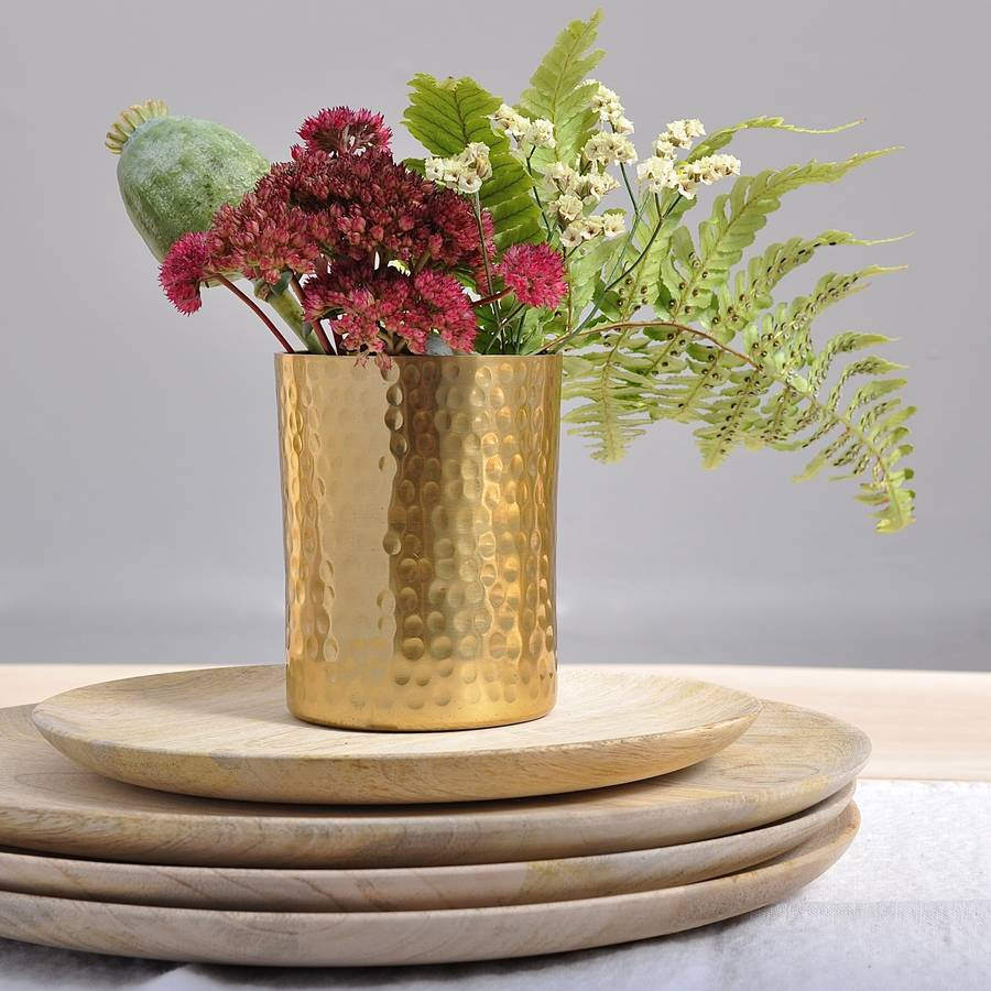 Multi functional Ayia golden metal pot from Henry and Future