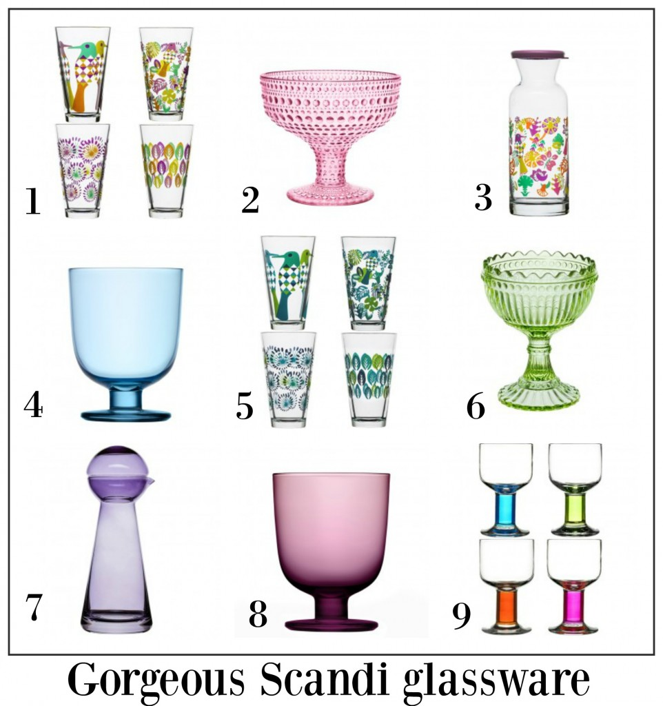 Gorgeous Scandi glassware to brighten up your dining table.
