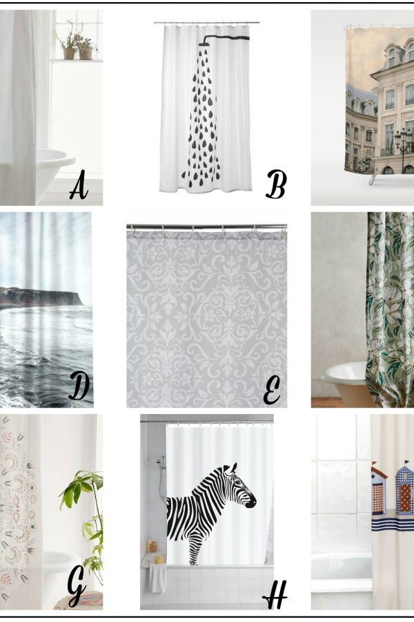 Fresh Design Finds: Stylish shower curtains
