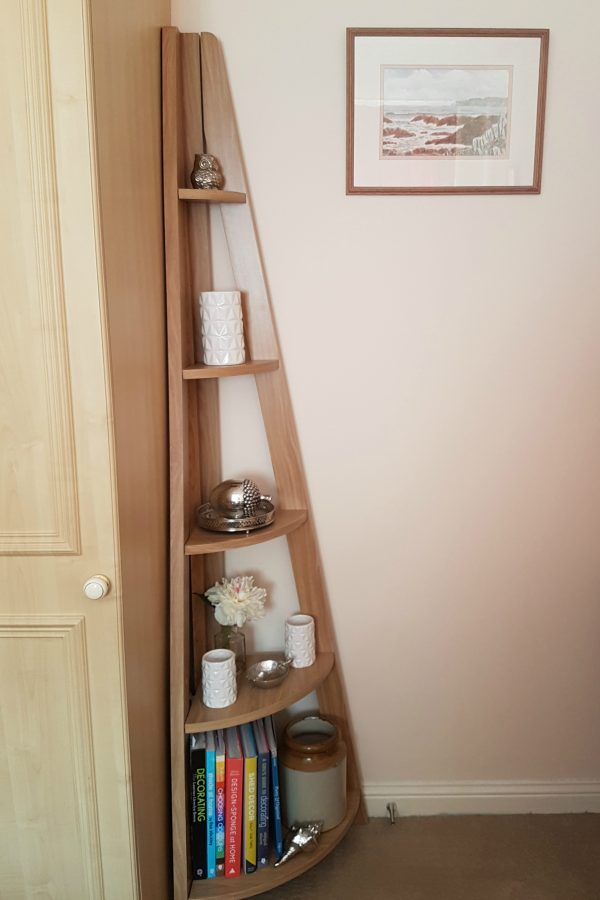 Quinn contemporary corner ladder style bookcase from Matalan