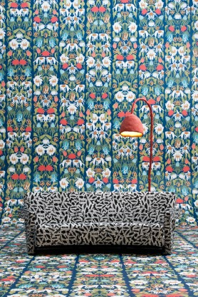Contemporary colourful withered flowers wallpaper from Studio Job and NXL Archives