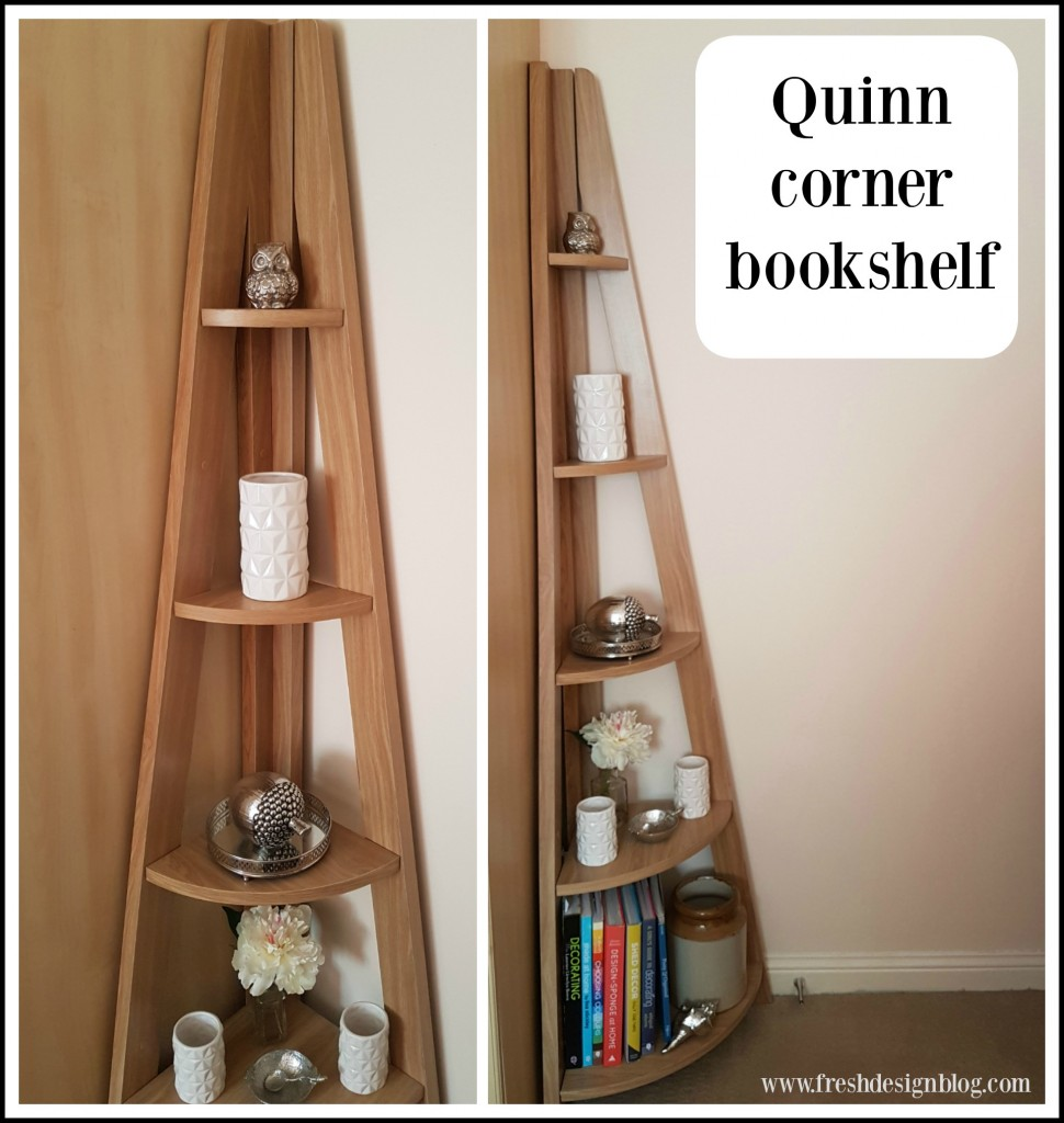 Modern corner ladder style bookcase - perfect to store books or display accessories