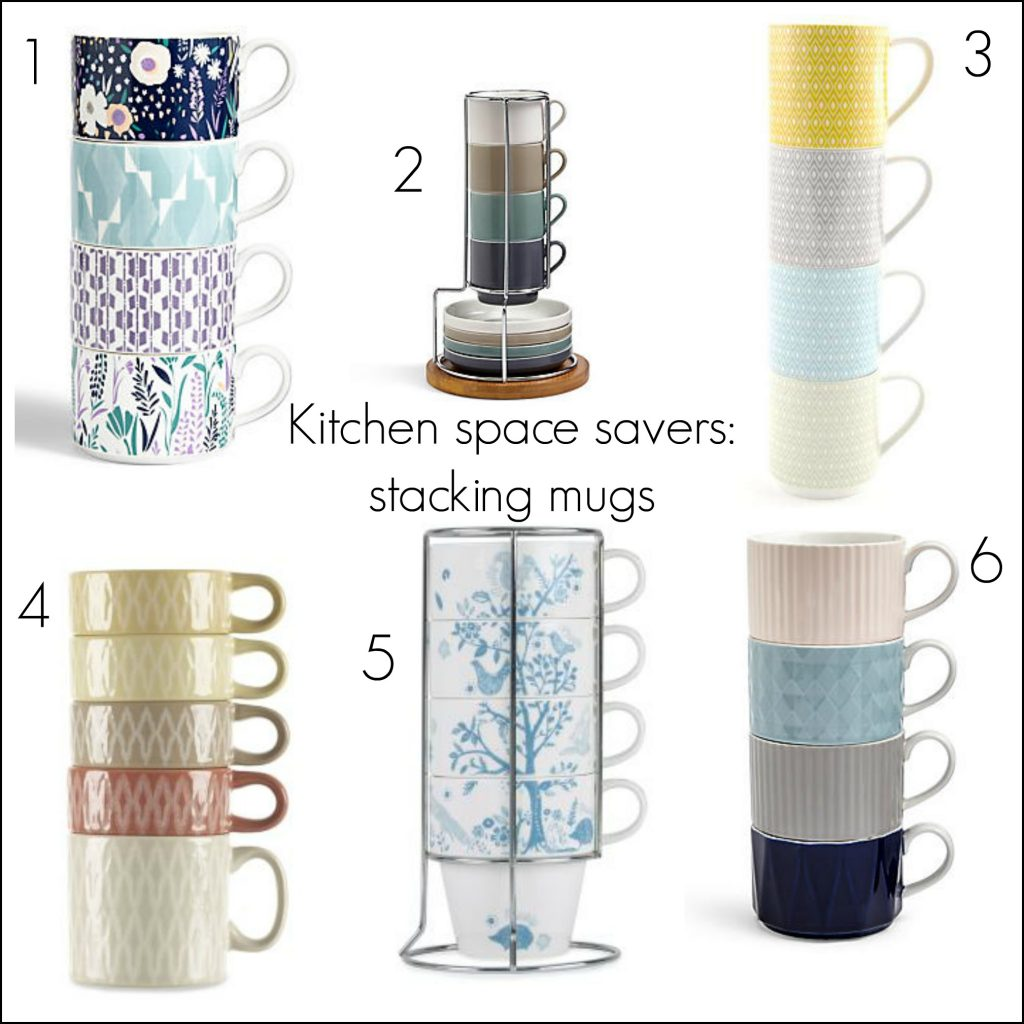 Short on storage space in your kitchen cupboards? Opt for a space saving stacking mug set