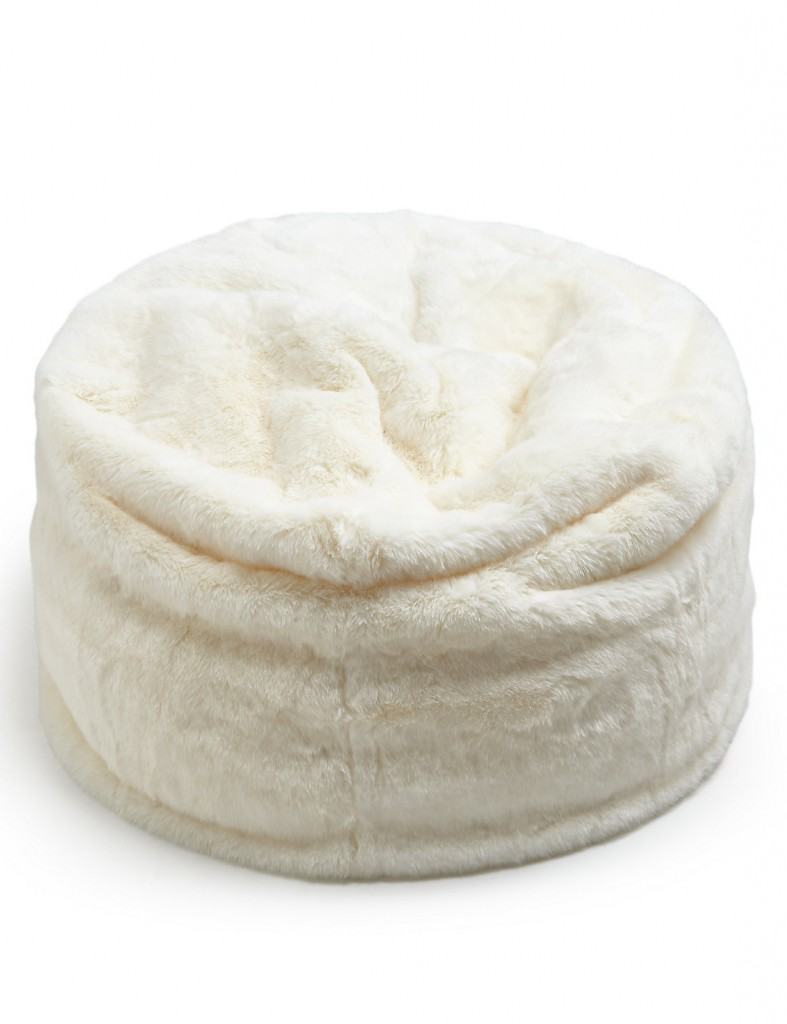 This cream faux fur bean bag is gorgeously soft and cosy and the perfect accessory for a scandi style room