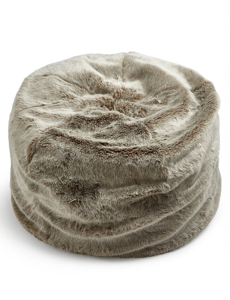 Gorgeously soft and cosy - mocha fax fur beanbag