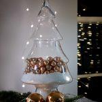 Create an easy seasonal display with a glass Christmas tree jar