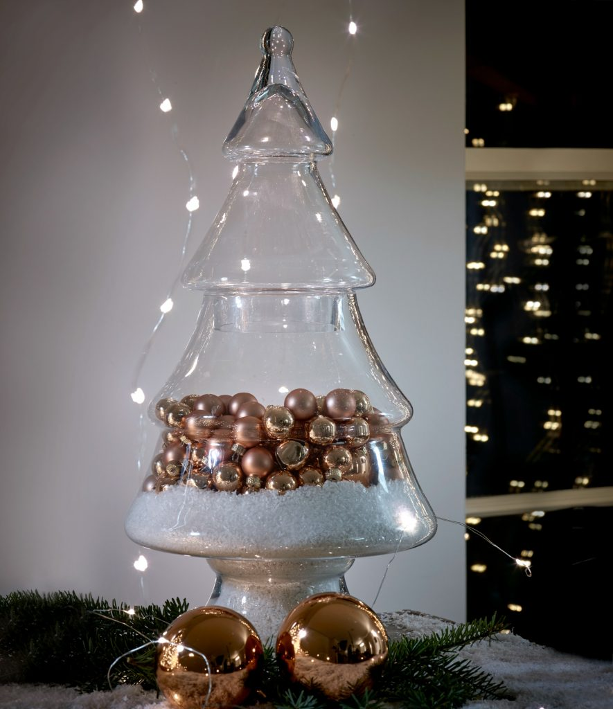 Christmas Tree Baubles B And Q : Gorgeous glass christmas tree display j ar  from cox
