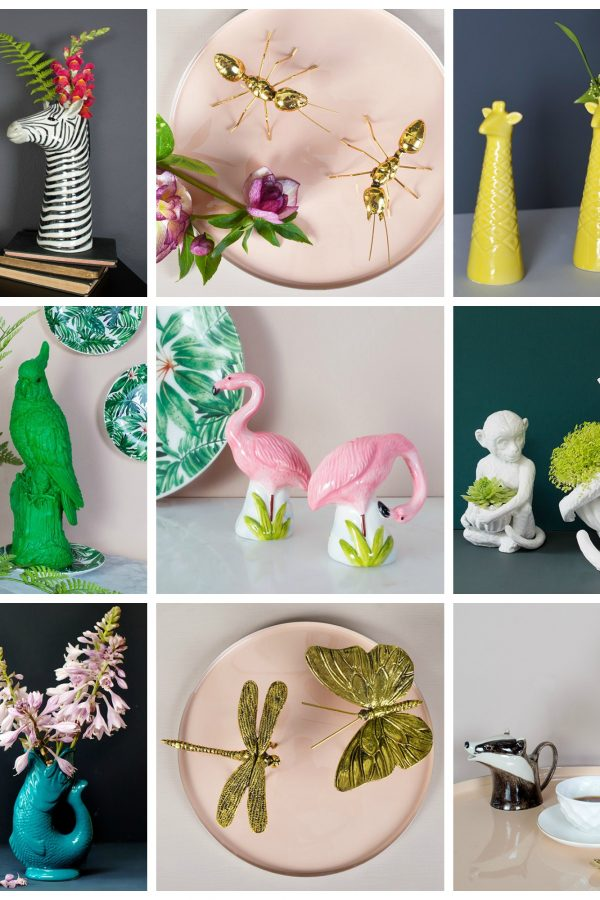 Quirky animal and bird home accessories from Mia Fleur