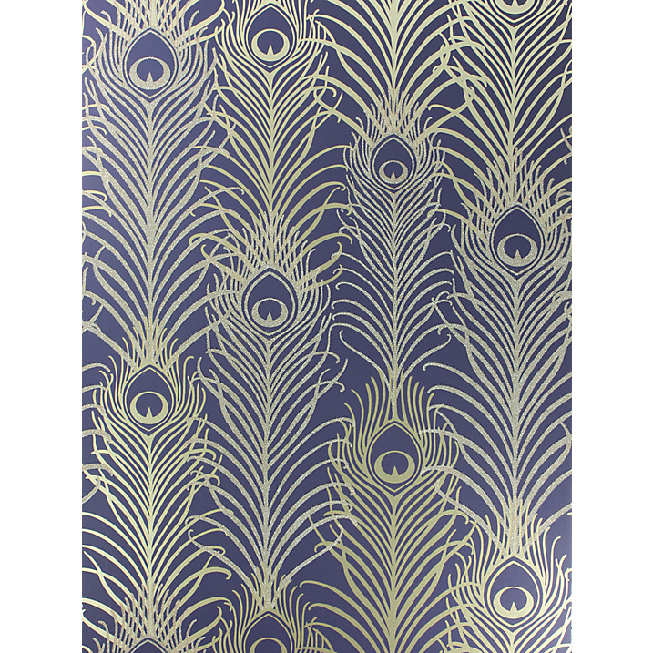 Stunning peacock feather design wallpaper by Matthew Williamson. Perfect for a feature wall.