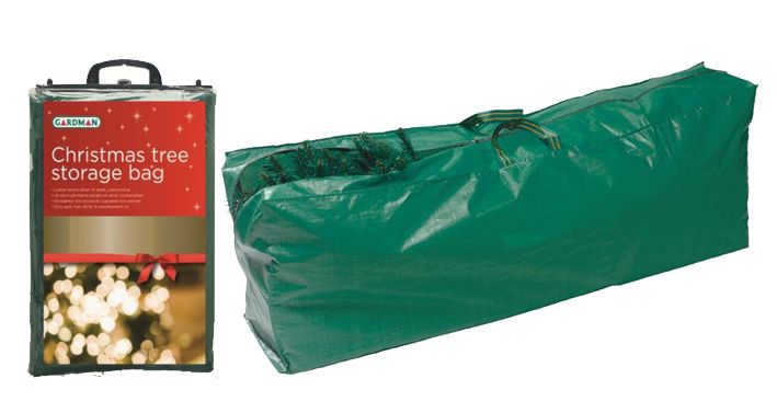 Store your artificial Christmas tree safely and securely in a tree storage bag