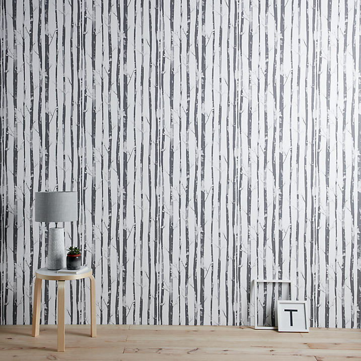 Inject a touch of Scandinavia into your home with this gorgeous forest monochrome wallpaper