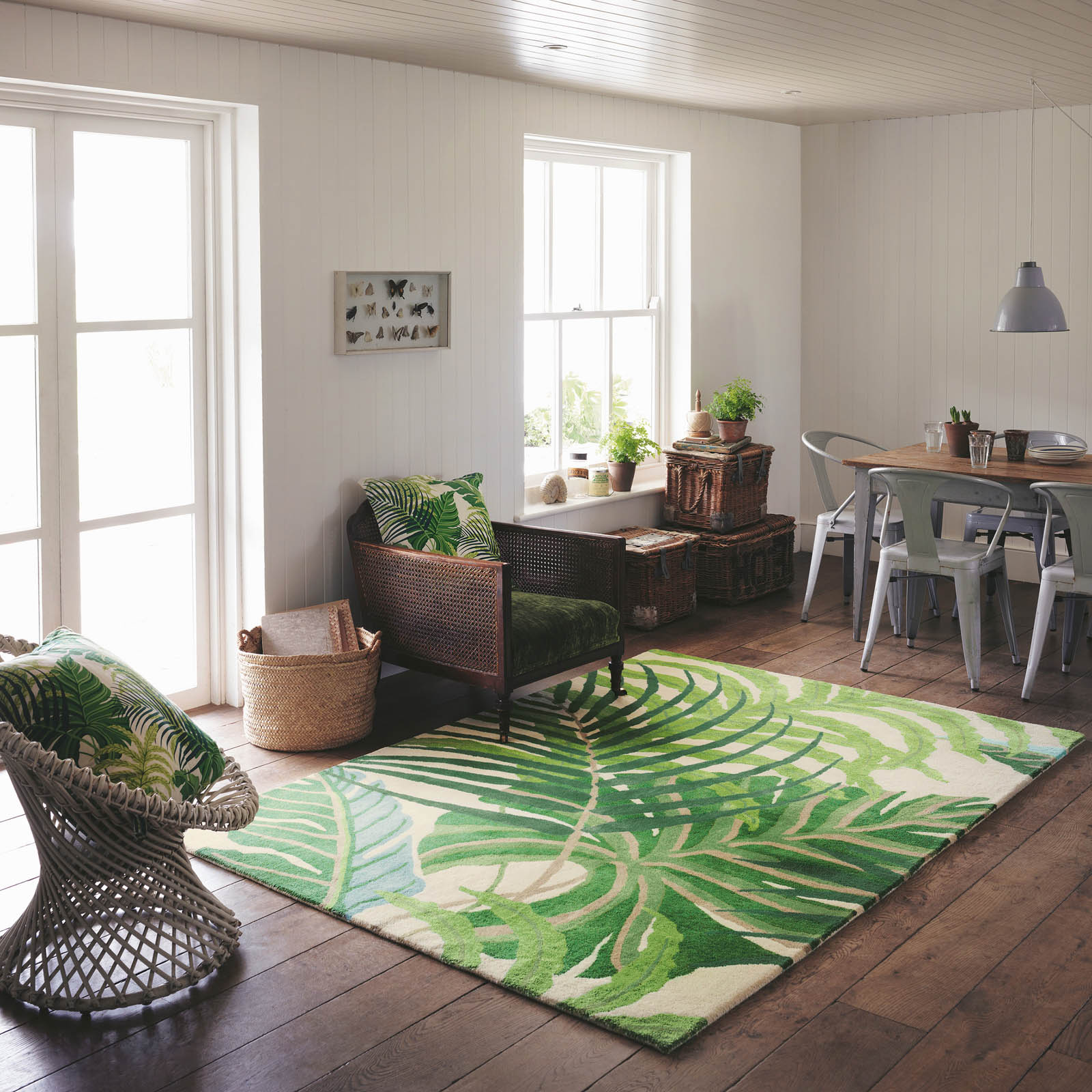 Design Squish Blog Pastureland Inspired Rugs By Alexandra: Tropical Floor Style: Sanderson Manila Rug