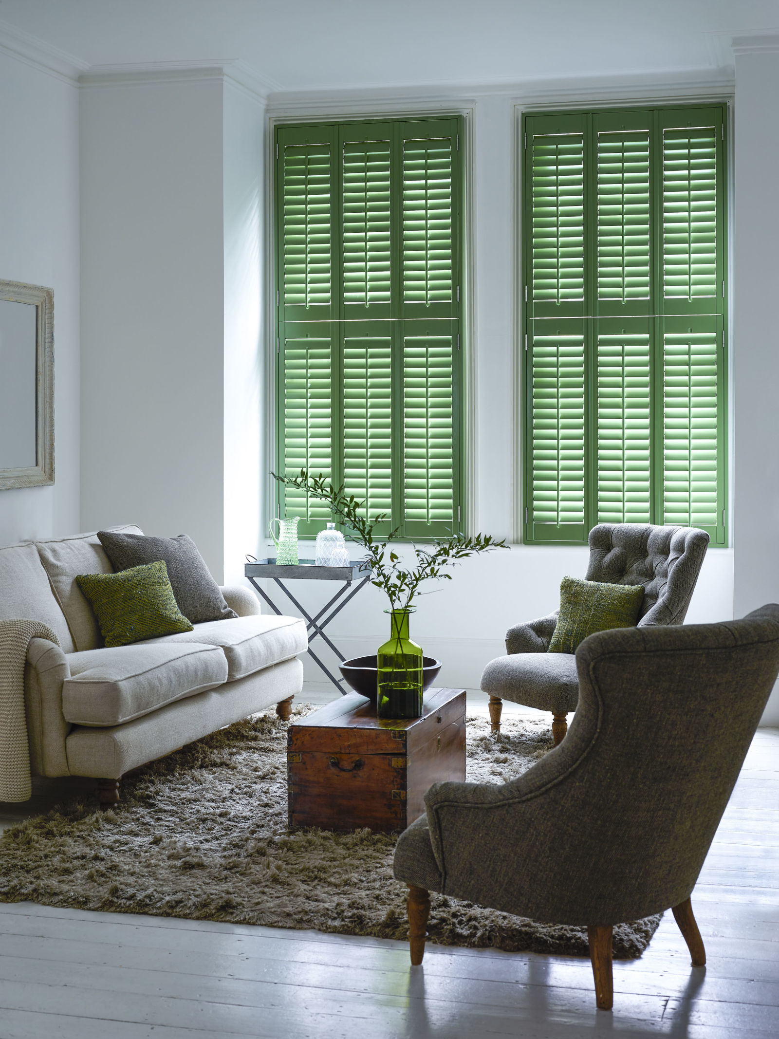 In november we added plantation shutters and i furnished with a sofa - In November We Added Plantation Shutters And I Furnished With A Sofa 0